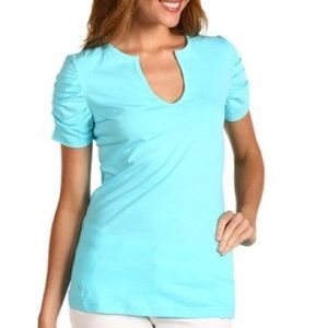 Lilly Pulitzer Shorely Blue Kit Top - L